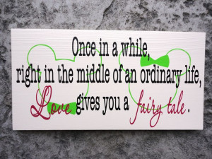 Wedding Love Fairy Tale Wedding Sign Mickey by OurHobbyToYourHome, $47 ...