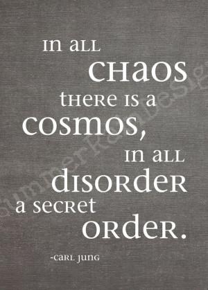 order in disorder