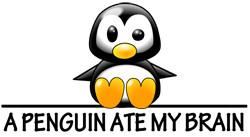 ... Humorous & Funny T-Shirts, > Penguin Humor > A Penguin Ate My Brain