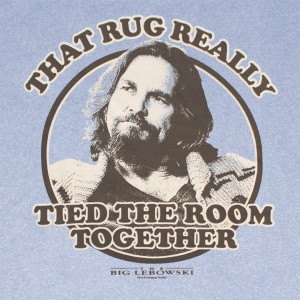 The Big Lebowski That Rug Tied The Room Together Blue Graphic TShirt