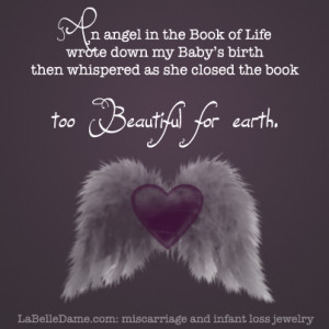 An Angel in the Book of Life wrote down my Baby's birth, then ...