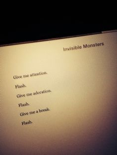 invisible monsters .