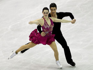 Tessa Virtue and Scott Moir are always connected, even off the ice.