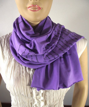 EMILY DICKINSON Love Poem Scarf - Lavender - Jersey Scarf Book Quote ...