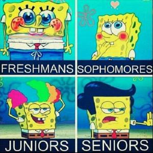 ... spongebob school FRESHMEN seniors juniors sophomores backtoschool