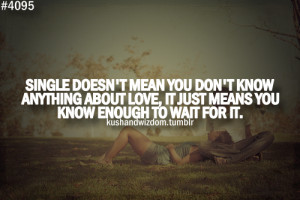 mean you don't know anything about love, it just means you know ...