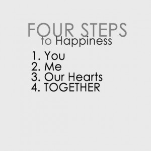 four steps to happiness