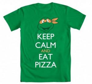 Ninja-Turtles-Michelangelo-Keep-Calm-and-Eat-Pizza-Adult-Green-T-shirt ...