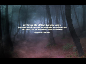 ... Wallpapers Quotes Beautiful Quote Of Guru Arjun Dev Ji In The Forest