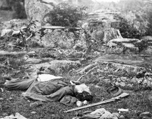 Dead Confederate soldiers in
