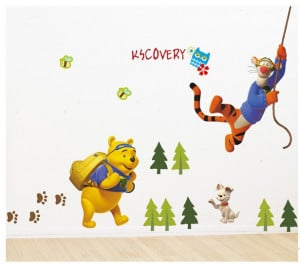 Cartoon cute animal trees home decoration wall art poster stickers ...