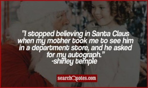 Shirley Temple Quote On Meeting Santa Claus For The First Time, R.I.P ...