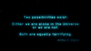 Arthur C. Clarke quote wallpaper