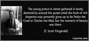The young prince in velvet gathered in lovely domesticity around the ...