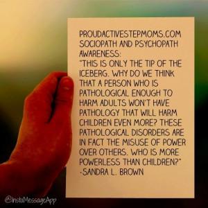 Psychopath and sociopath awareness