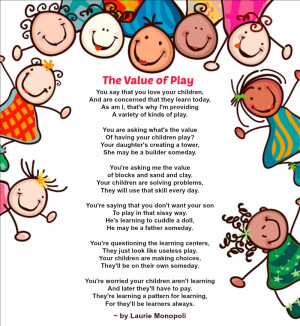 poems about children learning through play