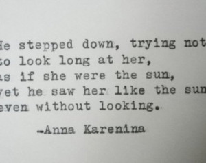 ANNA KARENINA quote love quote Literary love quote anniversary ...