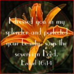 tiger lily bible verse ezekiel 16 14 this bible verse magnet is made ...