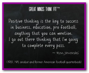 Famous Football Quote by Ron Jaworski
