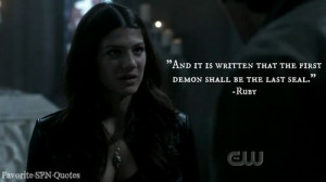 Ruby quote Supernatural
