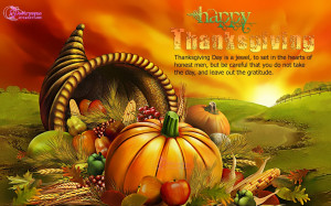Thanksgiving Day is a jewel, to set in the hearts of honest men, but ...