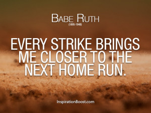 Babe Ruth – Baseball Sport Quotes
