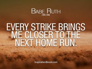 Babe Ruth – Baseball Sport Quotes