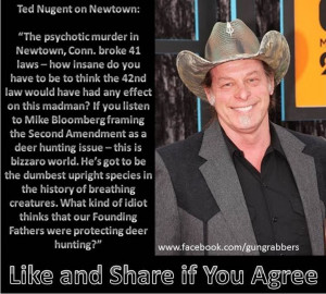 Ted Nugent quote // You said it Nuge!