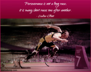 Perseverance is not a long race;