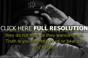 wiz khalifa, quotes, sayings, rapper, haters, truth, deep