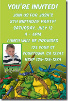 ... .com has a Teenage Mutant Ninja Turtles (TMNT) invitation template