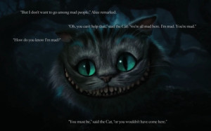 cats alice in wonderland quotes cheshire cat 1920x1200 wallpaper Pets ...