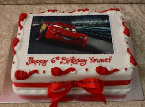 Lightning Mcqueen Cake With...