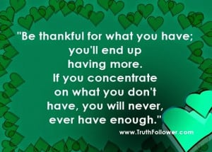 OPRAH WINFREY QUOTES ON GRATITUDE