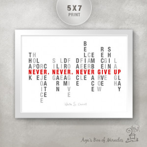 Baseball Quotes About Not Giving Up Never give up 5x7
