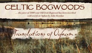 Irish Sayings written in Ogham on 5000 year old Bog Oak