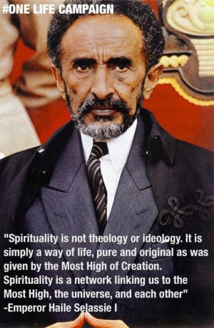 Emperor Haile Selassie I (I couldn't agree more with these words - it ...