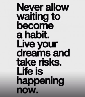Live in the moment. #quotes