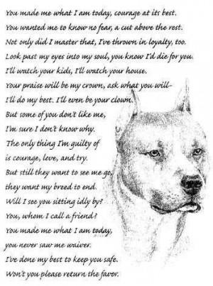 Pitbull Dog Quotes And Sayings Pitbull Dog Quotes
