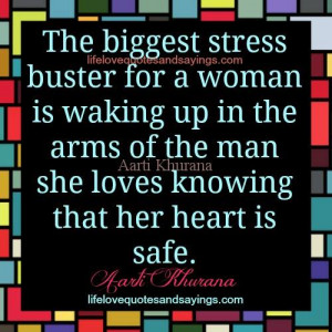 The Biggest Stress Buster For A Woman.