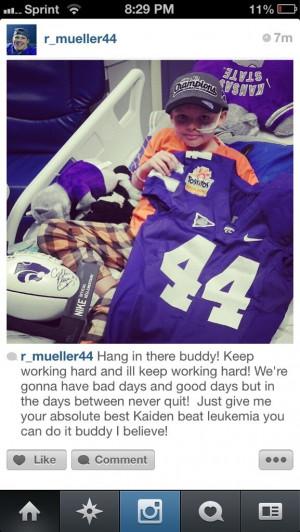 State's Ryan Mueller helps Kansas boy with Leukemia