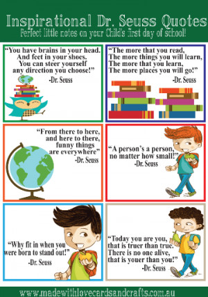 our Dr. Seuss inspired lunch box quotes , and our Inspirational quotes ...