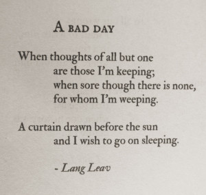 , Quotes Not, Lang Leaves, Inspirational Quotes, Beauty Poem, Bad Day ...