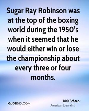 Dick Schaap Quotes
