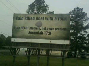 Pro-gun... This is cool as I'm reading Jeremiah with cuz L. right now ...