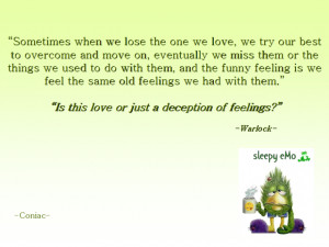 Deception Quotes Love or deception of feelings?