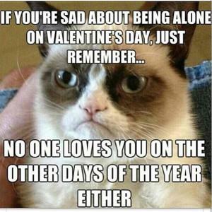 Sad on Valentine's Day