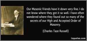 Masonic Quotes