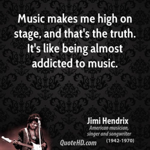 Jimi Hendrix Music Quotes