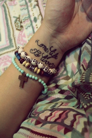 weheartit.comSexy: Vintage Black Short Life Quote Tattoos for Girls